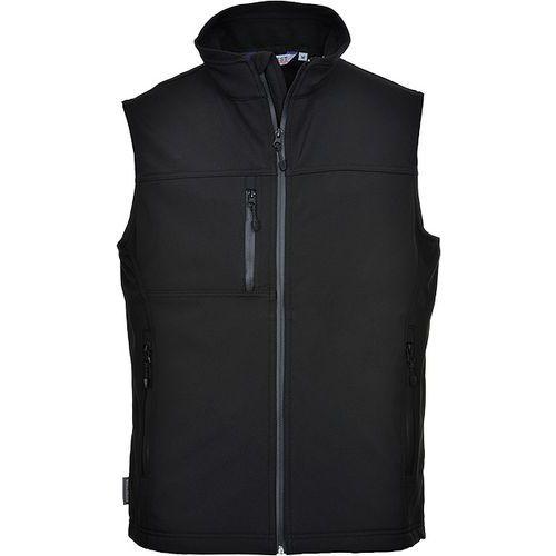 Softshelová vesta (3L), černá
