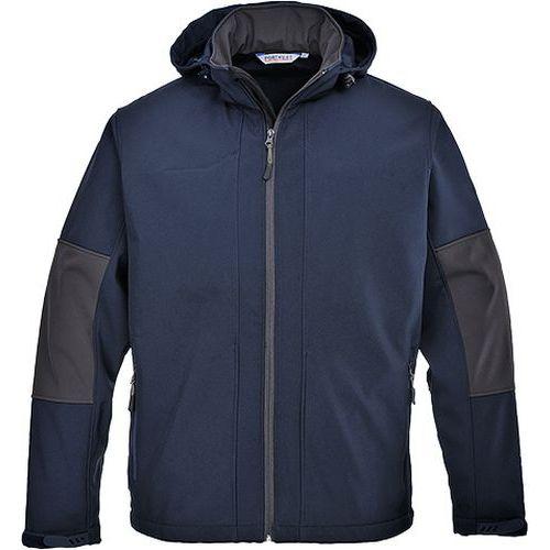 Softshelová bunda s kapucí (3L), modrá