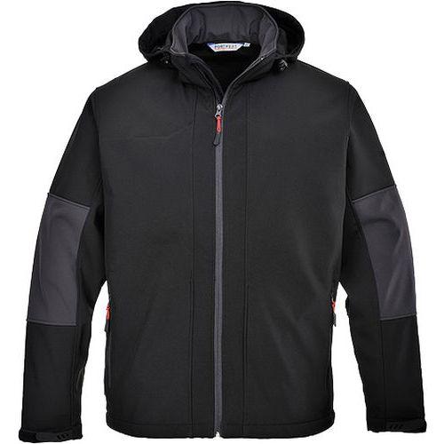 Softshelová bunda s kapucí (3L), černá