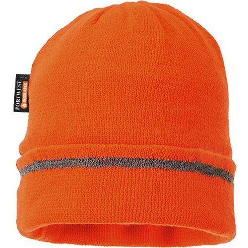 Zateplená čepice Insulatex Reflective Trim, oranžová