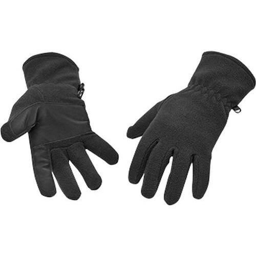 Fleecové rukavice, černá