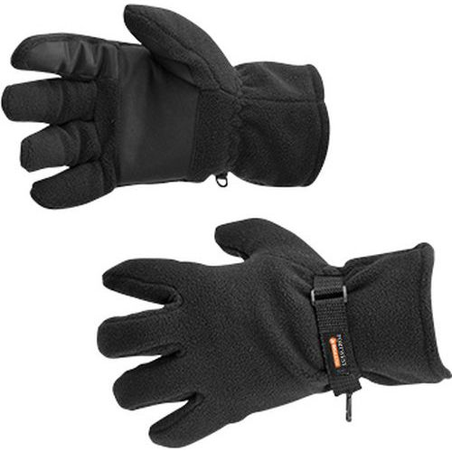 Zateplené fleecové rukavice Insulatex, černá