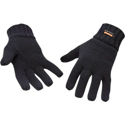 Pletené rukavice s podšívkou Insulatex, černá