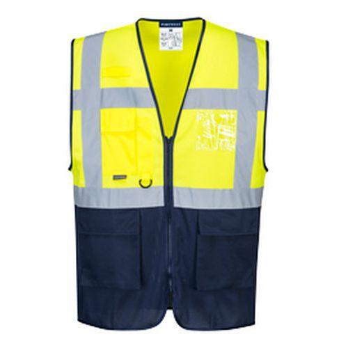 Reflexní vesta Two Tone MeshAir Hi-Vis, žlutá/modrá
