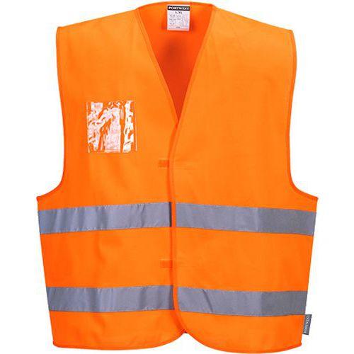 Reflexní vesta Label Hi-Vis, oranžová