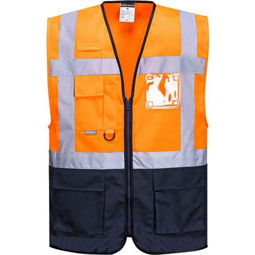 Reflexní vesta Warsaw Executive Hi-Vis, oranžová/modrá