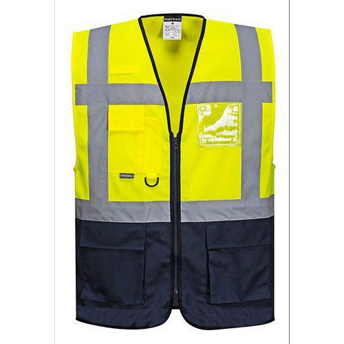 Reflexní vesta Warsaw Executive Hi-Vis, žlutá/modrá