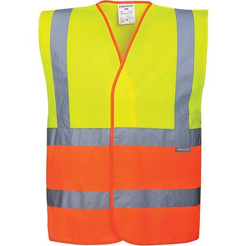 Reflexní vesta Plus Hi-Vis, žlutá/oranžová