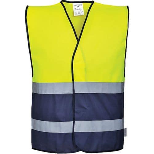 Reflexní vesta Hi-Vis, žlutá/modrá