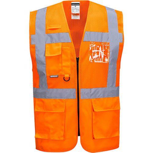 Síťovaná vesta Madrid Executive, oranžová, vel. XXL
