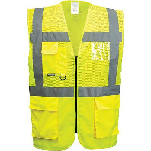 Síťovaná vesta Madrid Executive, žlutá, vel. L