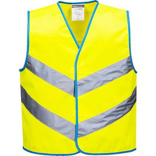 Reflexní vesta Junior Hi-Vis, žlutá
