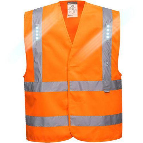 Reflexní vesta LED Vega Hi-Vis, oranžová