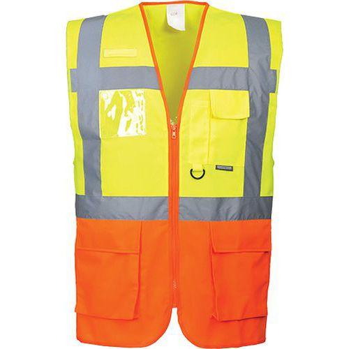 Reflexní manažerská vesta Prague Hi-Vis, žlutá/oranžová
