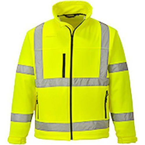 Reflexní softshelová bunda Classic Hi-Vis, žlutá
