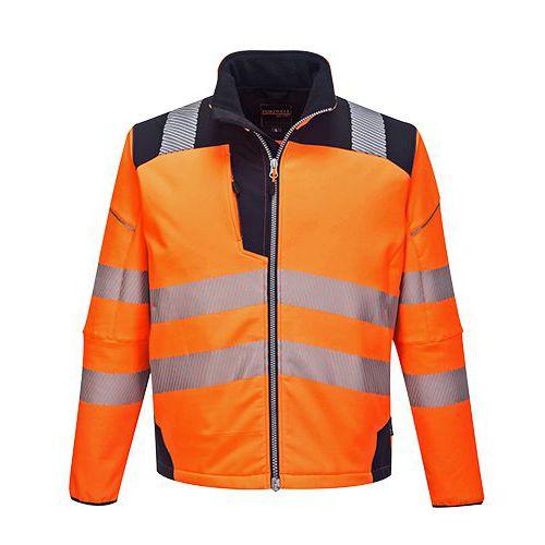 Reflexní softshelová bunda PW3 Hi-Vis, oranžová/modrá