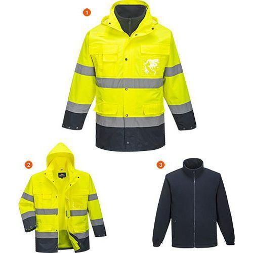 Reflexní bunda Hi-Vis Lite 3v1, žlutá/modrá