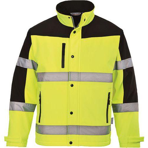 Dvoubarevná softshelová bunda (3L), žlutá, vel. XXL