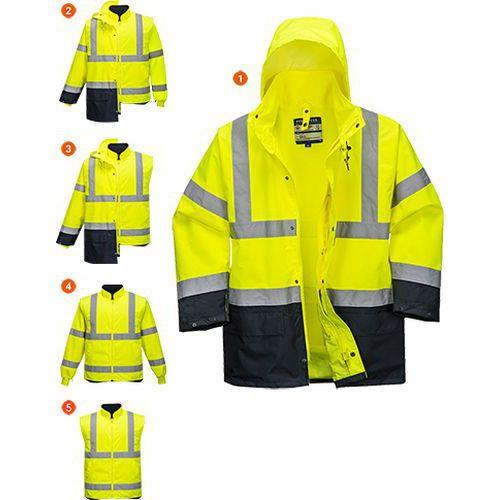 Dvoubarevná bunda Essential 5v1, modrá/žlutá, vel. 4XL