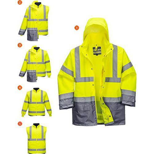 Bunda HiVis Executive 5v1, šedá/žlutá, vel. M
