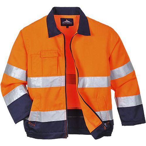 Reflexní bunda Madrid Hi-Vis, oranžová/modrá
