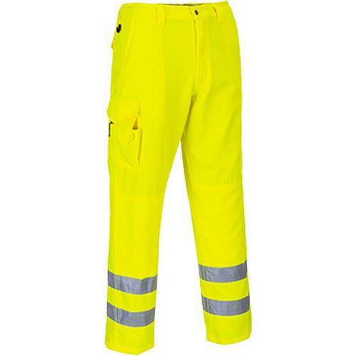 Reflexní kalhoty Combat Hi-Vis, prodloužené, žluté