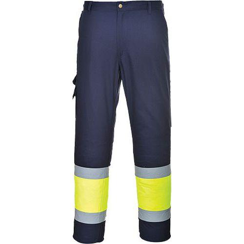 Reflexní kalhoty Combat Hi-Vis, modré/žluté