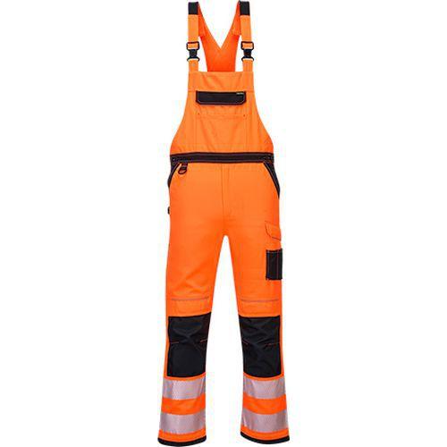 Reflexní kalhoty PW3 s laclem, černé/oranžové