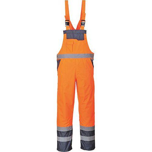Dvoubarevné laclové kalhoty nezateplené, modrá/oranžová, vel. XX