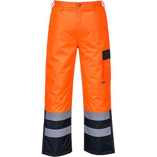 Reflexní kalhoty Contrast Hi-Vis, modré/oranžové