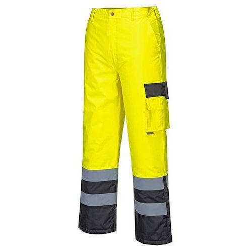 Reflexní kalhoty Contrast Hi-Vis, černé/žluté