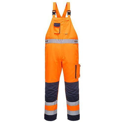 Reflexní kalhoty Dijon Hi-Vis s laclem, modré/oranžové