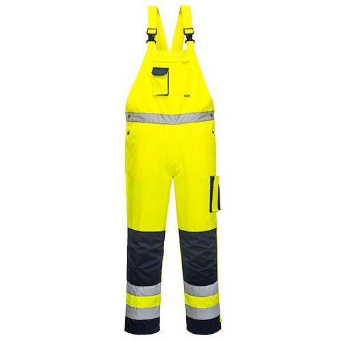 Laclové kalhoty Dijon Hi-Vis, modrá/žlutá, vel. M
