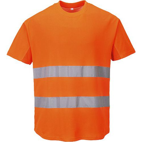 Reflexní tričko s krátkým rukávem Mesh Hi-Vis, oranžové