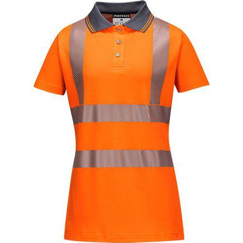 Dámská reflexní polokošile s krátkým rukávem Pro Hi-Vis, oranžová