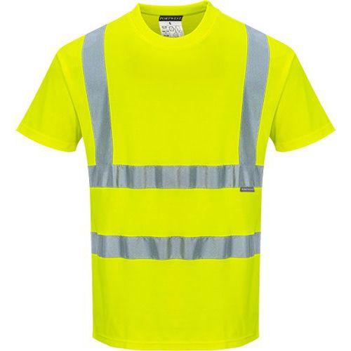 Bavlněné triko Comfort s krátkými rukávy, žlutá, vel. L