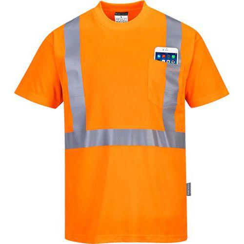 Triko Hi-Vis Pocket, oranžová, vel. L