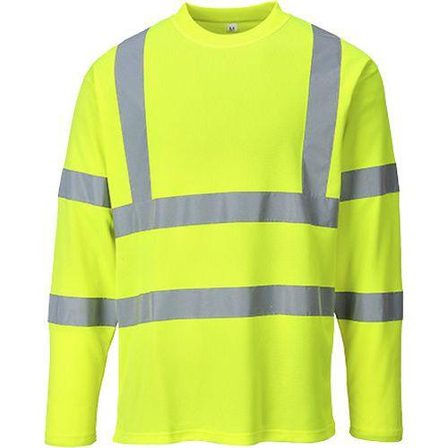 Triko Hi-Vis s dlouhými rukávy, žlutá, vel. M