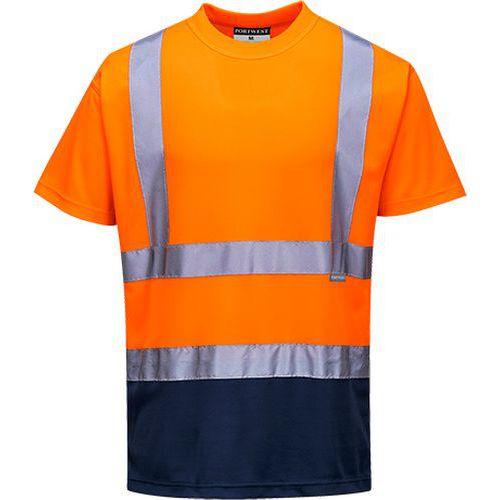 Reflexní tričko s krátkým rukávem Plus Hi-Vis, oranžové/modré