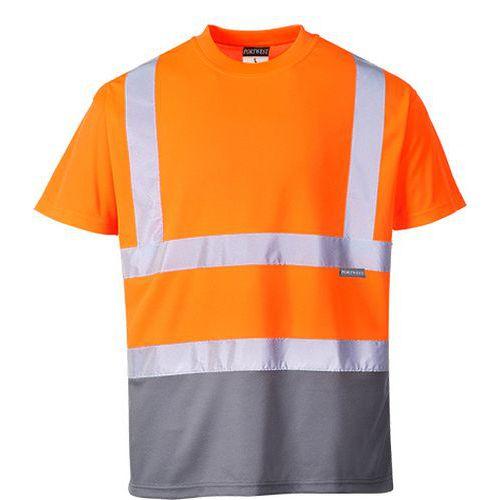 Reflexní tričko s krátkým rukávem Plus Hi-Vis, oranžové/šedé