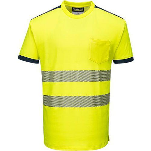 Reflexní tričko s krátkým rukávem PW3 Hi-Vis, žluté/modré