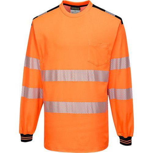 PW3 Hi-Vis triko L/S, černá/oranžová, vel. L