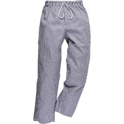 Kalhoty Bromley Chefs, bílá/šedá