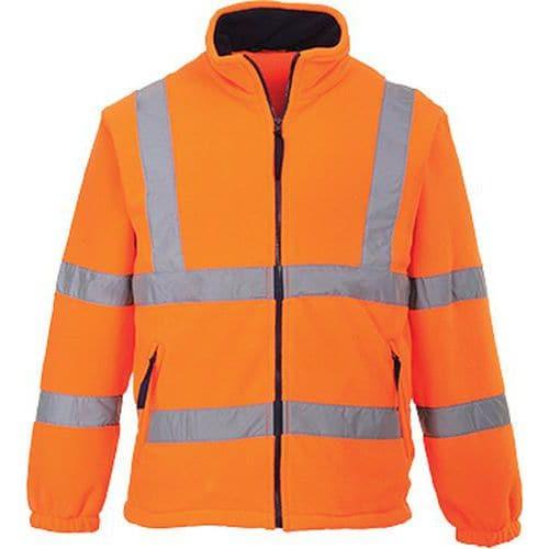 HiVis fleece s podšívkou ze siťoviny, oranžová, vel. XXL