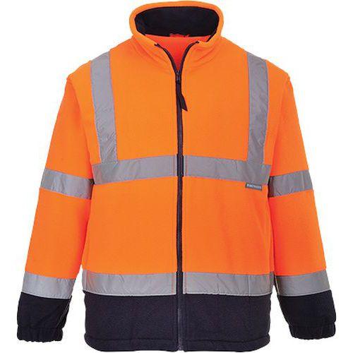 Hi-Vis dvoubarevný fleece, modrá/oranžová, vel. L