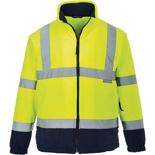 Hi-Vis dvoubarevný fleece, modrá/žlutá, vel. L