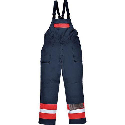 Laclové kalhoty Bizflame Plus, modrá, vel. L