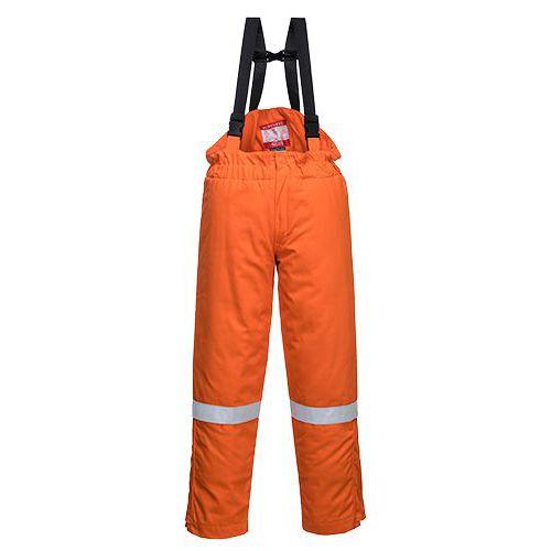 Kalhoty FR Anti-Static Winter Salopettes, oranžová, vel. S