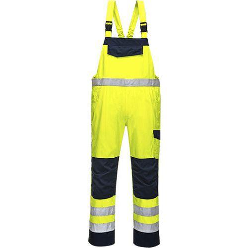 Laclové kalhoty HiVis MODAFLAME, modrá/žlutá