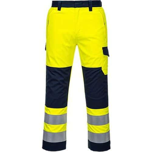 Kalhoty Hi-Vis Modaflame, modrá/žlutá, normální, vel. L